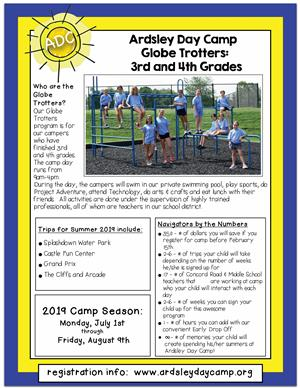 Ardsley Day Camp Globe Trotters