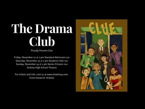 The Drama Club Announcement for Clue