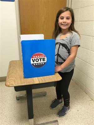 Student  voting picture